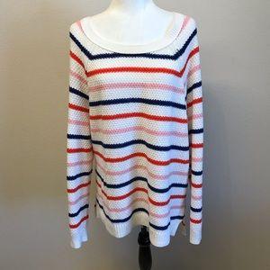 Old Navy Striped Waffle Knit Sweater XXL